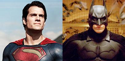 באטמן וסופרמן. הנרי קאביל יהיה שם, כריסטיאן בייל לא (צילום: מתוך הסרט) (צילום: מתוך הסרט)