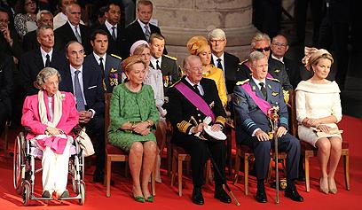 טקס צנוע יחסית בשל הודעת הפרישה המפתיעה של המלך אלברט השני (צילום: AP) (צילום: AP)