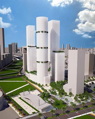הדמיית פרויקט טרה בתל-אביב (הדמיה: ישר אדריכלים)