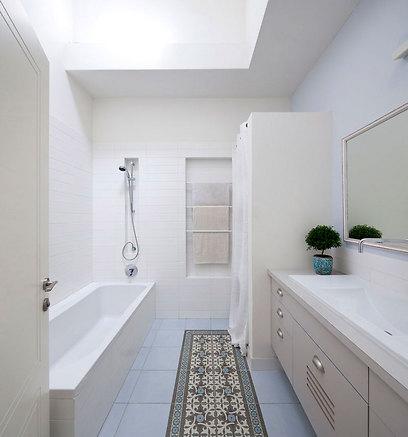 חדר אמבטיה לילדים (צילום: עמית גירון) (צילום: עמית גירון)