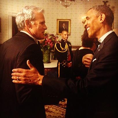 Oren with US President Obama.