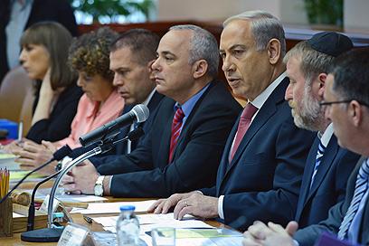 """ישיבת הממשלה, היום. """"החלטות קשות"""" (צילום: קובי גדעון, לע""""מ) (צילום: קובי גדעון, לע"""