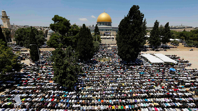 Muslims praying near the Dome of the Rock during Ramadan (Photo: Reuters)