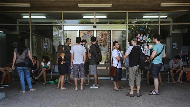 סטודנטים באוניברסיטת תל-אביב (צילום: ירון ברנר) (צילום: ירון ברנר)