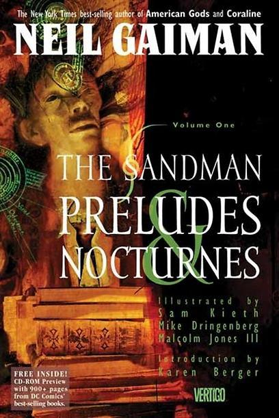 """""""סנדמן"""" מאת ניל גיימן. בא מתוך החלומות  (עטיפת הקומיקס) (עטיפת הקומיקס)"""