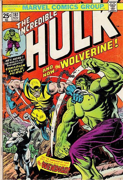 """וולברין בא לעולם מול הענק הירוק. """"Incredible Hulk #180"""" ()"""