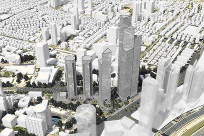 הדמיית פרויקט קרן הקריה בתל-אביב (הדמיה: ויו פוינט) (הדמיה: ויו פוינט)