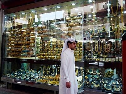 כל הזהב נוצץ. מחיר המתכת הנוצצת בדובאי זול במיוחד (צילום: יוסי פישר) (צילום: יוסי פישר)