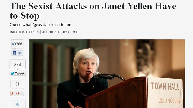 """""""דה אטלנטיק"""" - """"המתקפה הסקסיסטית חייבת להיפסק"""""""