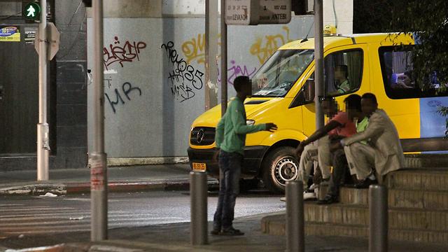 Asylum-seekers in Southern Tel Aviv  (Photo: Ido Erez)