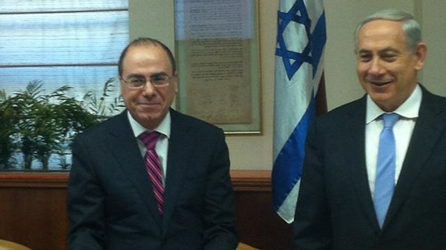 Interior Minister Silvan Shalom and Prime Minister Benjamin Netanyahu.