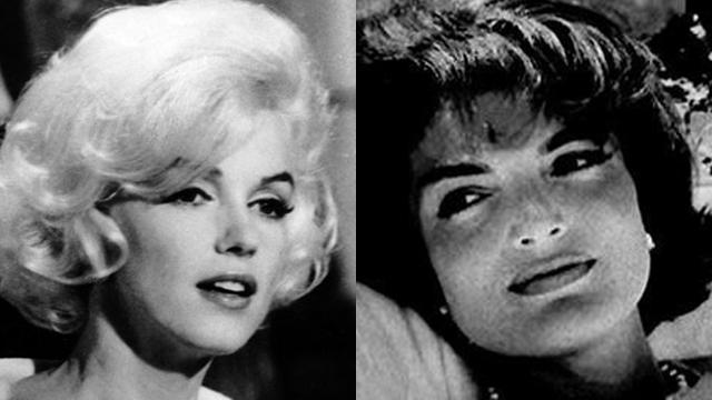 אשת הנשיא הייתה מודאגת במיוחד מכוכבת הקולנוע. קנדי ומונרו (צילום: AP. AFP) (צילום: AP. AFP)