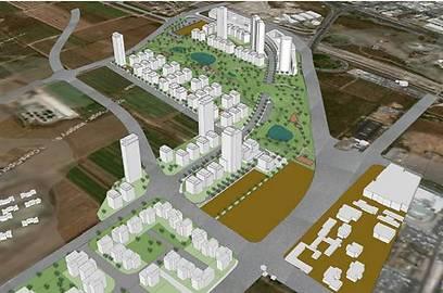 הדמיית השכונה החדשה. לא פחות מ-3,000 דירות (הדמיה: מליס אדריכלים) (הדמיה: מליס אדריכלים)