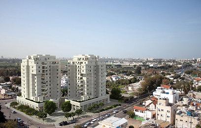 """הדמיית פרויקט """"דואט"""" בתל-אביב"""