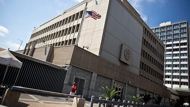 """שגרירות ארה""""ב בתל אביב (צילום: רויטרס) (צילום: רויטרס)"""