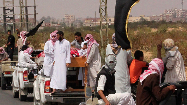 Funeral of 4 jihadists killed in Sinai attack (Photo: Reuters)