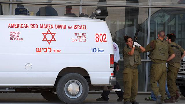 Ambulance at the Erez crossing (Photo: Amir Cohen/File)