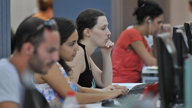 סטודנטים באוניברסיטת תל-אביב. לא כל המוסדות דורשים ציון מלא (צילום: ירון ברנר) (צילום: ירון ברנר)