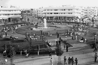 """כיכר צינה דיזינגוף, 1938 (צילום: זולטן קלוגר, לע""""מ) (צילום: זולטן קלוגר, לע"""