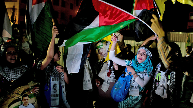 Рамалла встречает палестинских заключенных Фото: Охад Цвигенберг