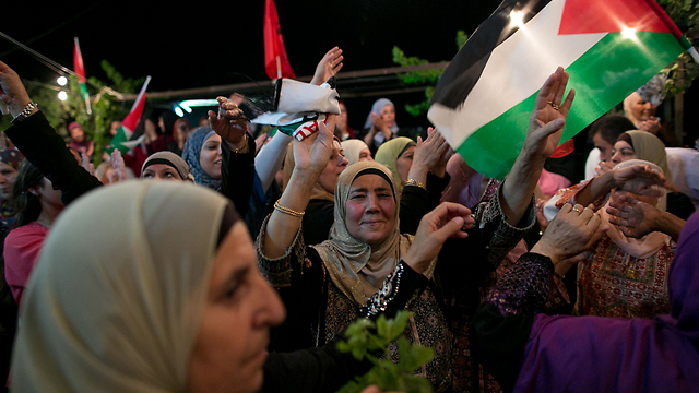 Celebrations in Ramallah after the August 2013 prisoner release  (Photo: Ohad Zwigenberg)