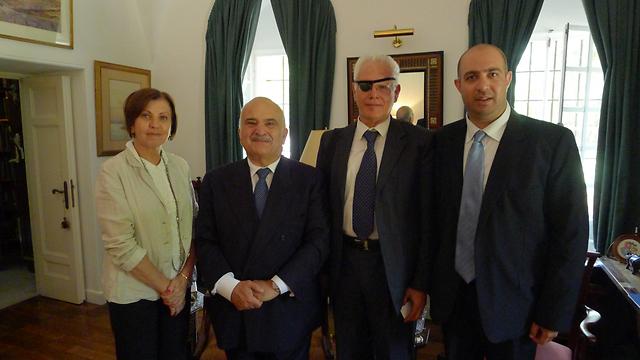 Gal-On (L), Hassan, Baruch, Gilad (Photo: Meretz Spokesperson)