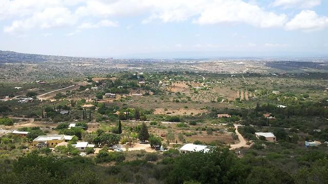 רק הם, הטבע וכמה בתים מסביב. מבט דרומי לכליל (צילום: זיו ריינשטיין) (צילום: זיו ריינשטיין)