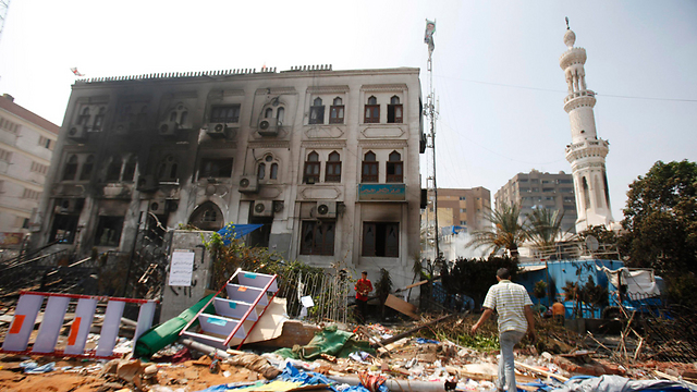 Damage in mosque (Photo: Reuters)