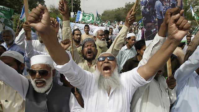 העלבת הנביא מוחמד נחשבת במדינה המוסלמית לחילול הקודש (צילום: AP)