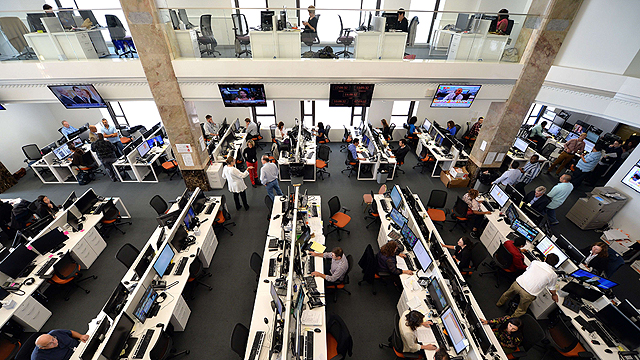 Al-Jazeera's newsroom (Photo: AFP)