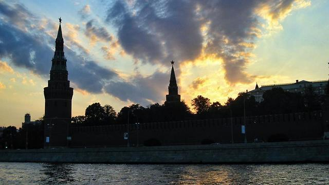 שקיעה על מוסקבה, רוסיה (צילום: פלג כהן)
