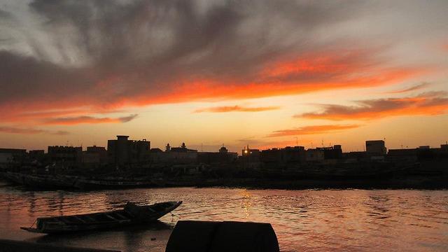 שקיעה במערב אפריקה (צילום: פלג כהן)