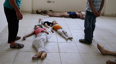 Syrian children gassed near Damascus (Photo: Reuters)