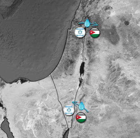 מהכנרת ומעקבה. מתווה חילופי המים (צילום: google maps) (צילום: google maps)
