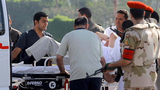 Mubarak taken to hospital (Photo: AP)