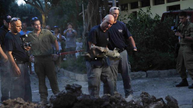 Scene of hit in Shavei Zion (Photo: Avihu Shapira)