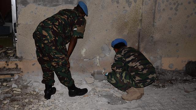 UN troops in Shavei Zion (Photo: Adham Muhammad)