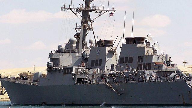 אוניית המלחמה מאהן. אובמה עדיין לא אישר תקיפה (צילום: AFP) (צילום: AFP)