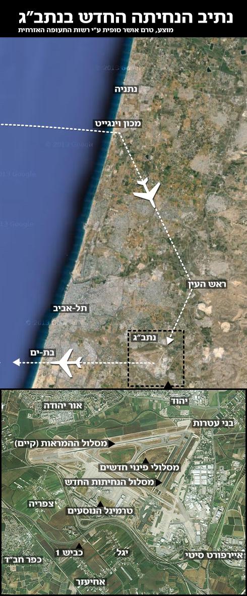 (צילומים: גוגל מפות, רשות שדות התעופה) (צילומים: גוגל מפות, רשות שדות התעופה)