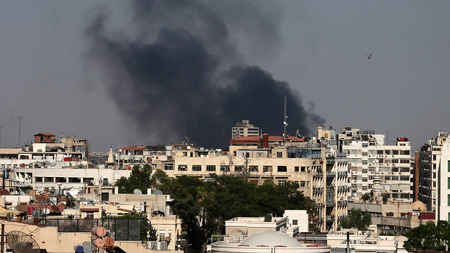 Bombing near Damascus (Photo: AP)