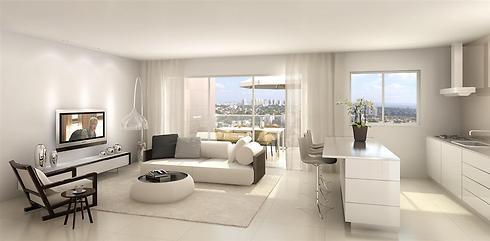 הדמיית הדירות בפרויקט. אין דירות 3 חדרים