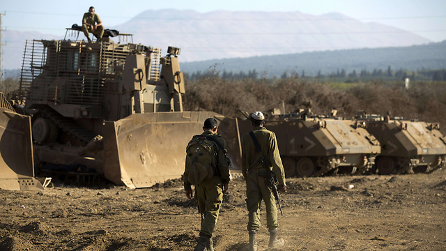 IDF in Golan (Photo: AFP)