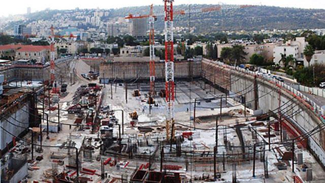 """עבודות הקמת החניון (צילום: באדיבות דוברות רמב""""ם) (צילום: באדיבות דוברות רמב"""