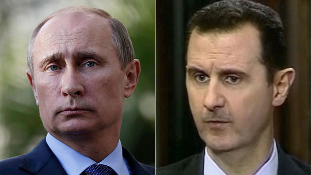 Serious proposal? Putin (L) and Assad (Photos: AP, Reuters)