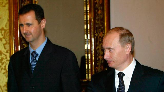 ולדימיר פוטין ובשאר אסד (צילום: gettyimages) (צילום: gettyimages)