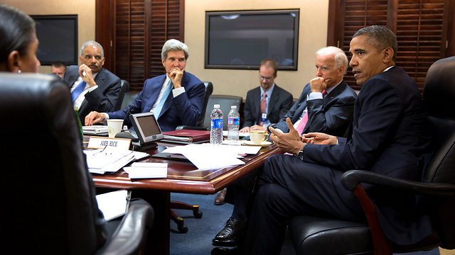 Obama and Kerry. Israelis need them in order to sleep well at night (Photo: AP)