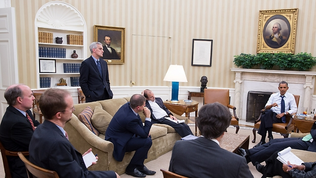 Obama discusses Syria with advisors at White House (Photo: AFP) (Photo: AFP)