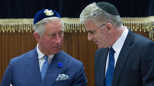 Former Israeli Ambassador to the UK Daniel Taub with HRH Prince Charles (Photo: AFP)