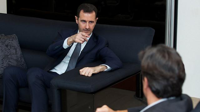 """אסד מתראיין לעיתונאי הצרפתי. """"אובמה חלש"""" (צילום: רויטרס) (צילום: רויטרס)"""