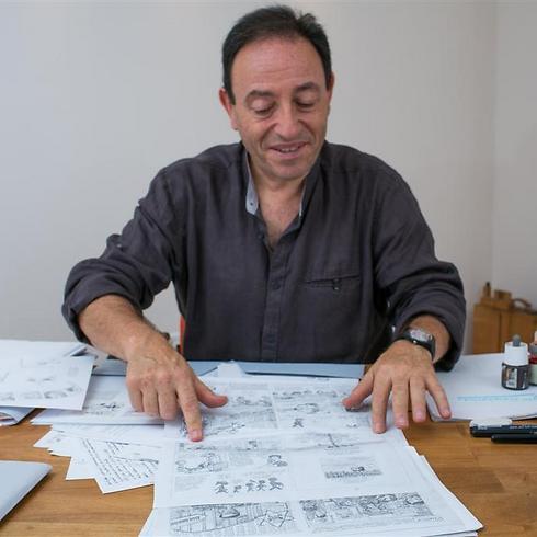 Israeli cartoonist Michel Kichka (Photo: Ohad Zwigenberg) (Photo: Ohad Zwigenberg)